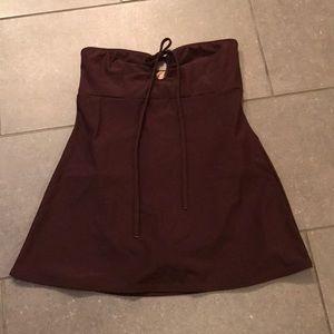 Brown Strapless Shape FX Swimdress